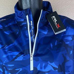 RLX Ralph Lauren Blue Camouflage Pullover $168 NEW